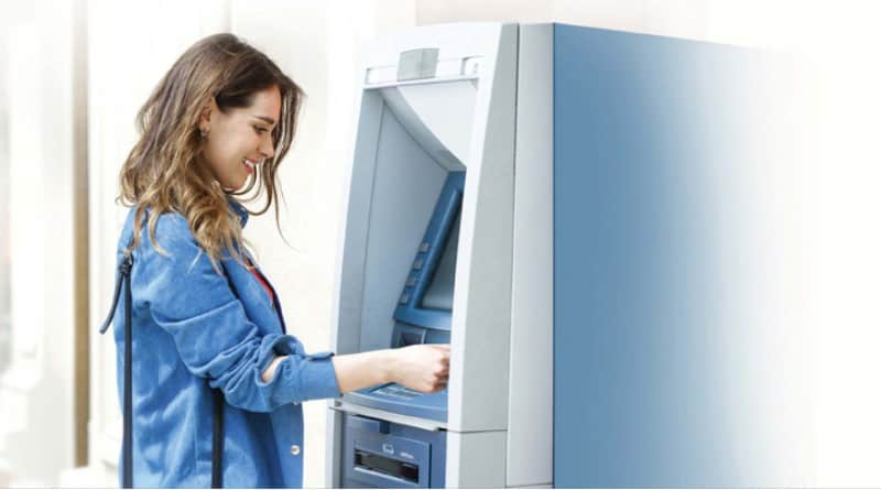 Снятие наличных в банкомате
